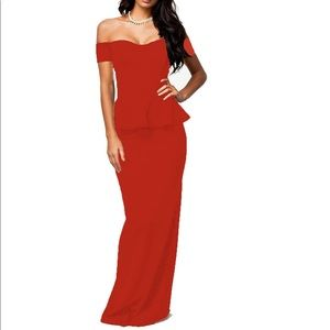 Dresses & Skirts - NWOT NuoReel Peplum Red Formal Dress